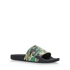 KG Kurt Geiger - Green 'Yakima' flat sandals