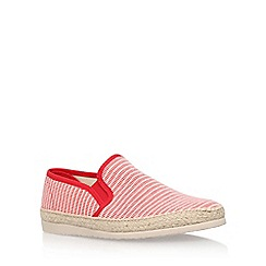 KG Kurt Geiger - Red 'Lara' flat slip on sneaker