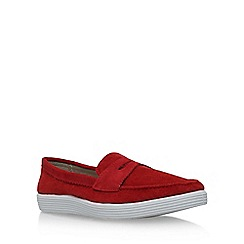 KG Kurt Geiger - Red 'Gayle' flat slip on sneaker