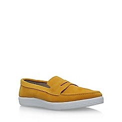 KG Kurt Geiger - Yellow 'Gayle' flat slip on sneaker