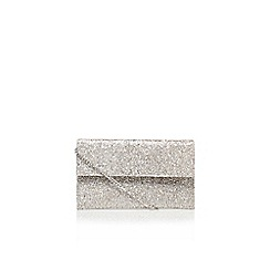 Carvela - Silver 'Didi' clutch bag with shoulder strap