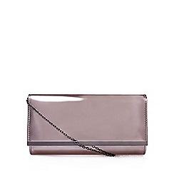 Carvela - Grey 'Dylan' clutch bag with shoulder chain