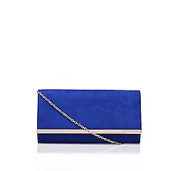 Carvela - Blue 'Dylan' clutch back with shoulder chain