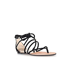 Vince Camuto - Black 'Adalson' flat lace up sandals