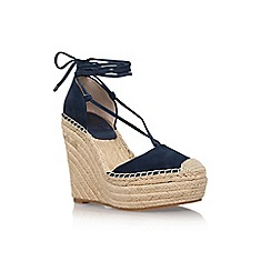 Vince Camuto - Blue 'Airlia' high heel wedge sandals