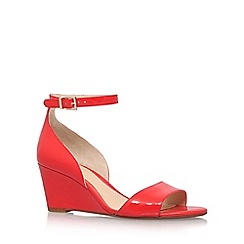 Vince Camuto - Red 'Cherin' high heel wedge sandals