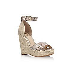 Vince Camuto - Gold 'Maurita' high heel wedge sandals