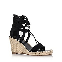 Vince Camuto - Black 'Tannon' high heel wedge sandals