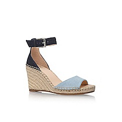 Vince Camuto - Blue 'Torian' high heel wedge sandals