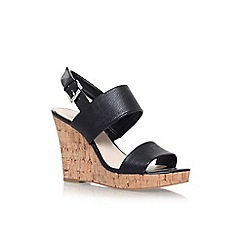 Nine West - Black 'Lucini' high heel wedge sandal