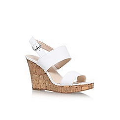 Nine West - White 'Lucini' high heel wedge sandals