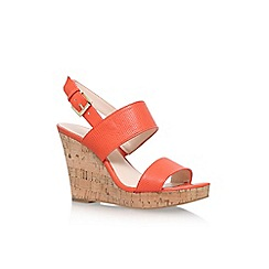 Nine West - Red 'Lucini' high heel wedge sandals