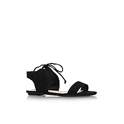 Nine West - Black 'Jadlin' flat lace up sandal