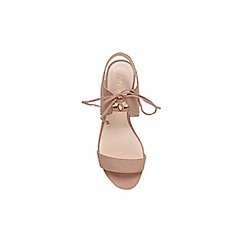 Nine West - Beige 'Jadlin' flat lace up sandal
