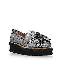 Carvela - Grey 'Lou' mid heel loafer