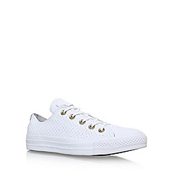 Converse - White 'Craft Leather Low' lace up sneaker
