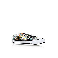 Converse - White 'Ct Daisy Print' low flat lace up sneakers