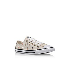 Converse - Cream 'Ct Dainty Fthr' low flat lace up sneaker