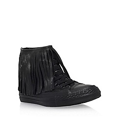 Converse - Black 'Ct Fringe Hi' flat hi top sneakers