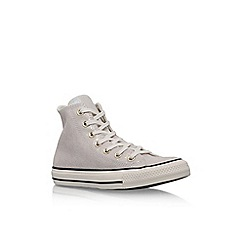 Converse - White 'Ct Oil Slick Hi' flat lace up sneaker