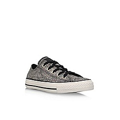 Converse - Black 'Ct Oil Slick Low' lace up sneaker