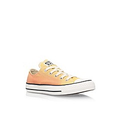 Converse - Yellow 'Ct Sunset Low' lace up sneakers