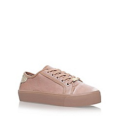 Carvela - Natural 'Lazer' flat lace up sneakers