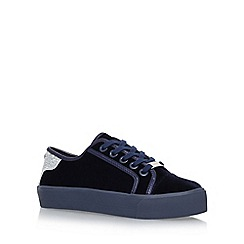 Carvela - Blue 'Lazer' flat lace up sneakers