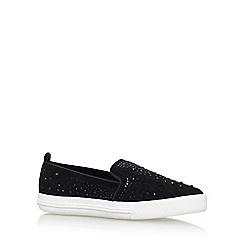 Miss KG - Black 'Lydia' Flat Slip On Sneakers