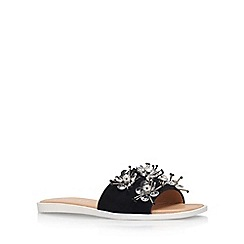 Miss KG - Black 'Dandelion' flat sandals