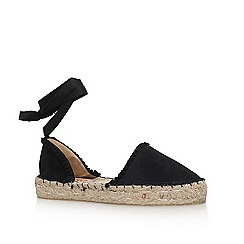 Miss KG - Black 'Izzy' flat sandals