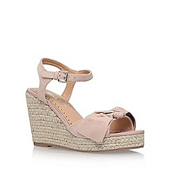 Miss KG - Natural 'Pennie' high heel wedge sandal