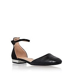 Miss KG - Black 'Mindy' low heel sandals