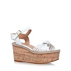 Carvela - White 'Katrina' platform sandal