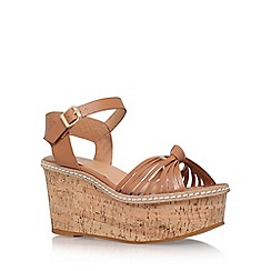 Carvela - Brown 'Katrina' high heel wedge sandals