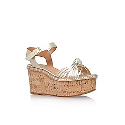 Carvela - Gold 'Katrina' high heel wedge sandals