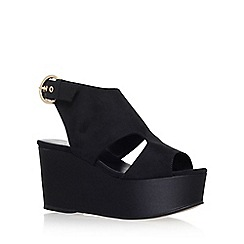 Carvela - Black 'Klaudia' high heel wedge sandals
