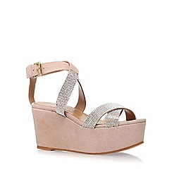 Carvela - Natural 'Klaire' high heel wedge sandals