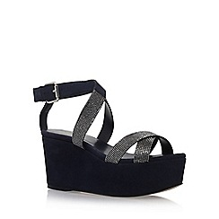 Carvela - Blue 'Klaire' high heel wedge sandals