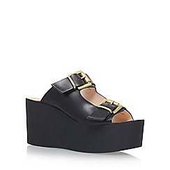 Carvela - Black 'Khris' high heel wedge sandals