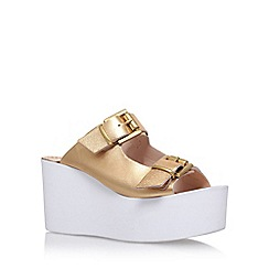 Carvela - Gold 'Khris' high heel wedge sandals