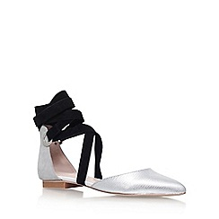 Carvela - Silver 'Lizzie' flat ballerina pumps