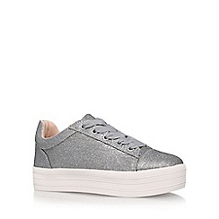 Carvela - Silver 'Lupo' flat lace up sneakers