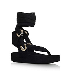 KG Kurt Geiger - Black 'Mojo' flat sandals