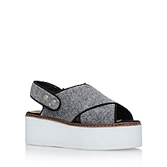 KG Kurt Geiger - Grey 'Neve' high heel wedge sandals
