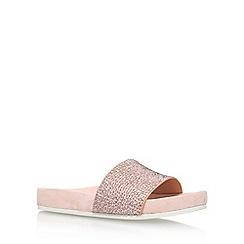 KG Kurt Geiger - Natural 'Missy' flat sandals
