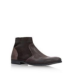 KG Kurt Geiger - Brown 'Reece' flat chelsea boots