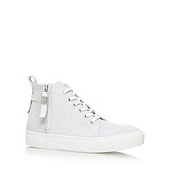 KG Kurt Geiger - White 'Leicester' flat lace up sneakers