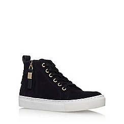 KG Kurt Geiger - Blue 'Leicester' flat high top sneaker