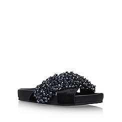 KG Kurt Geiger - Black 'Magnus' flat sandals